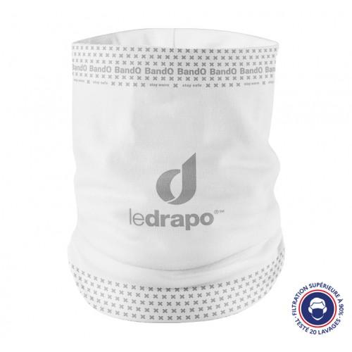 Neck warmer BandO² ledrapo white