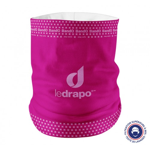 Neck warmer BandO² ledrapo pink